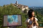 Chagall夏加尔的《乡村上空拥抱的恋人》