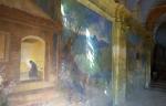 St Paul de Vence废弃教堂里神圣的宗教壁画