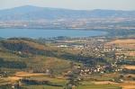 Lake Trasimeno seen from Cortona