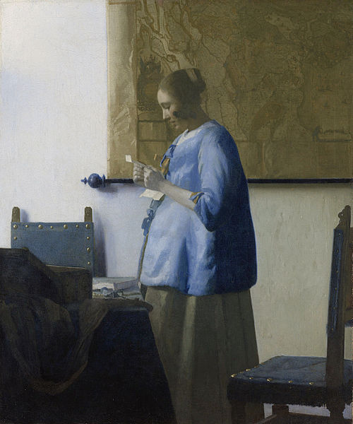Vermeer - Woman reading a letter