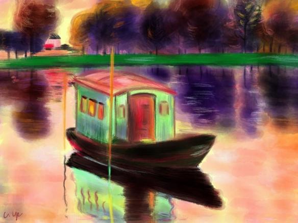 莫奈的水上工作室(The Studio Boat)