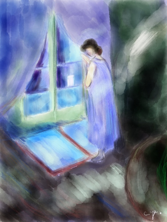 蒙克《窗边女孩》- 我的画
